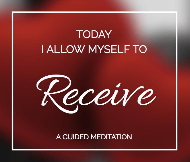 Receiving meditation