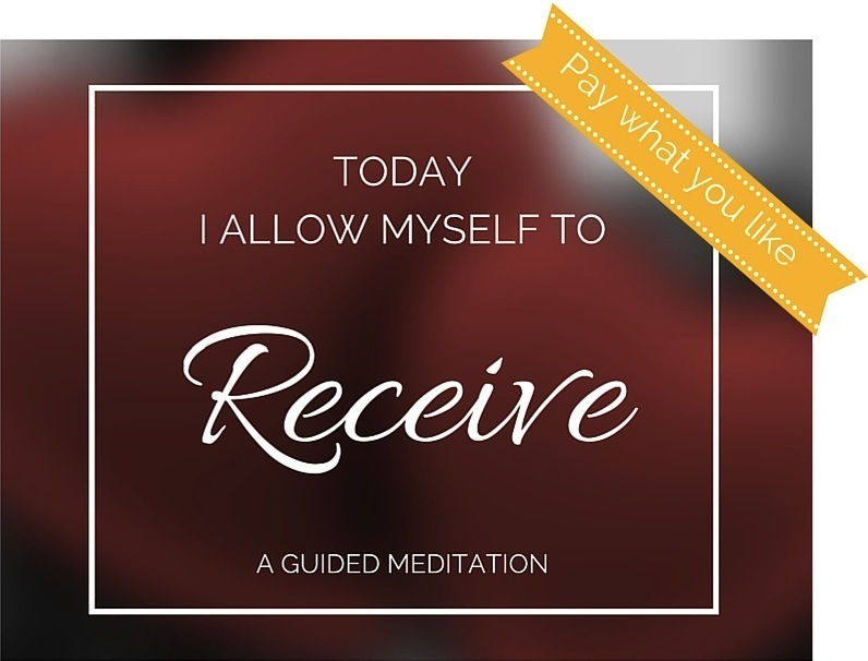 Pay what you like Receiving Meditation
