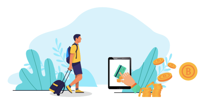 earn free crypto for travel bookings cashback